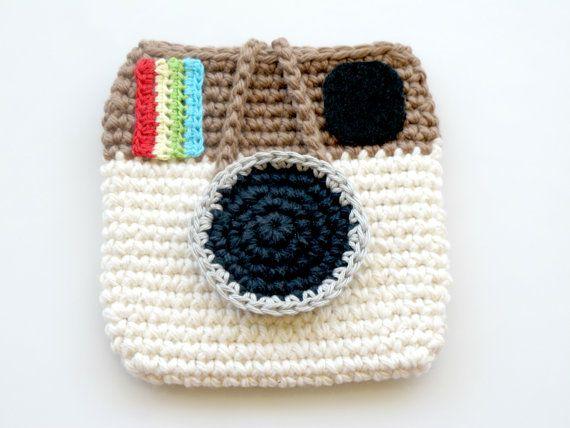 Crocheted Instagram Mini Pouch. Bag. Purse