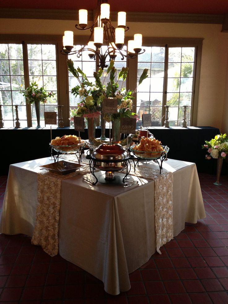 Wedding reception food table wedding ideas pinterest for Wedding reception table ideas