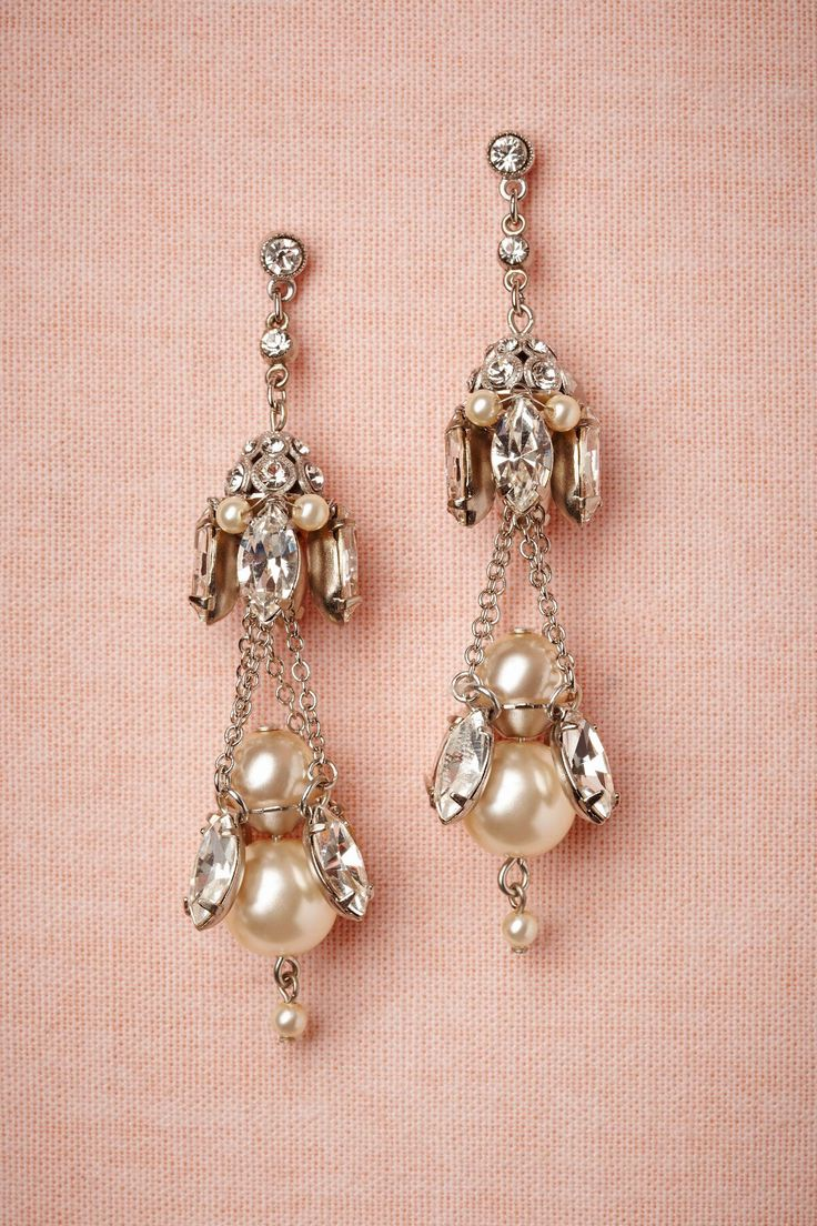 Sparkling Pearl Earrings.