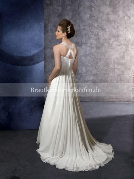 Vintage Chiffon A-Linie Hochzeitskleid  Strand Brautkleider  Pinter ...