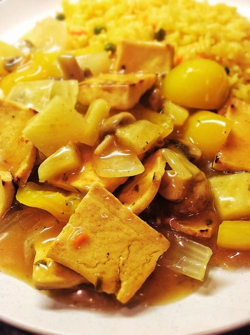 CHINESE STYLE TOFU AND PINEAPPLE CURRY   vegetarian recipes   Pintere ...