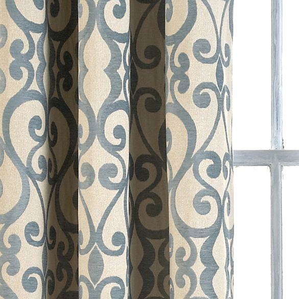 Large Buffalo Check Curtains Grommet Top Panel Door