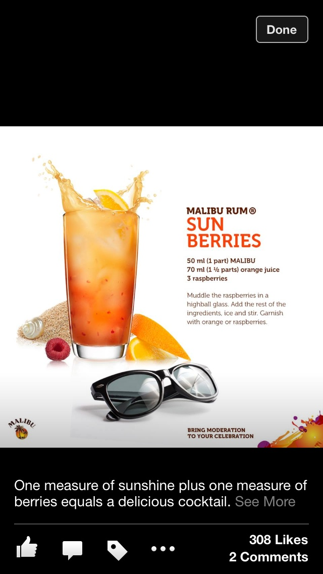 Malibu rum | DRINKS! (Virgin and alcoholic) | Pinterest