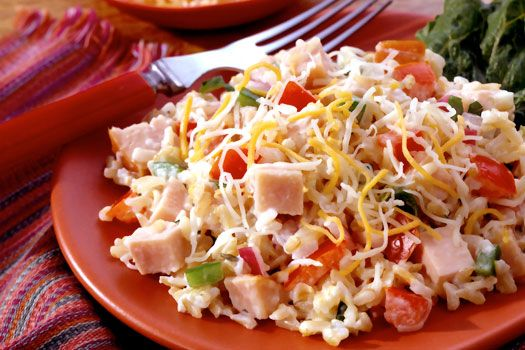 Acapulco Smoked Turkey, Cheese and Rice Salad