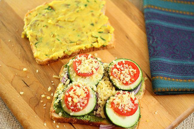Mumbai Sandwich with mashed potatoes, veggies and a hot cilantro mint ...