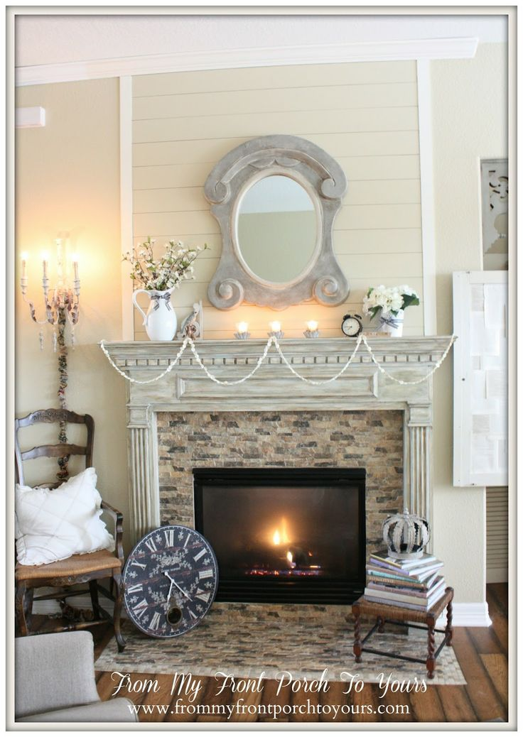 Fireplace Makeover DIY Planked Wall