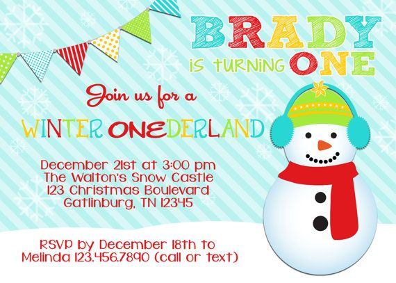 Snowman boy birthday invitation 5x7 printable by partysoperfect 8 00