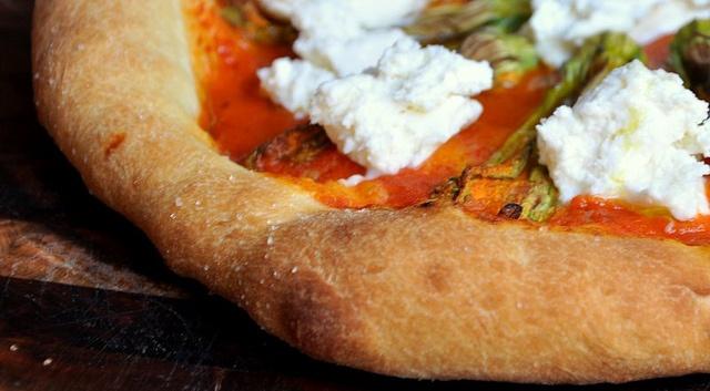 Squash Blossom And Burrata Pizza Recipe — Dishmaps