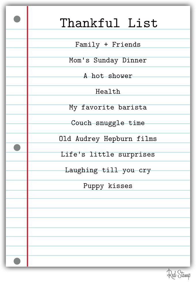 List of things to be thankful for thanksgiving