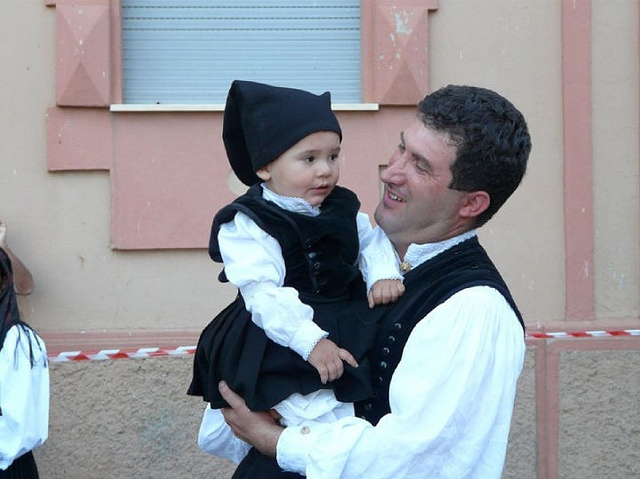 Baby wearing traditional Sardinian costume 2010 Jerzu