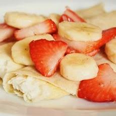 Strawberry Banana Crepes Recipe | housewifery | Pinterest