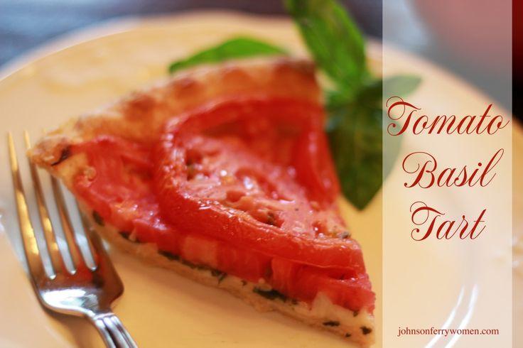 Easy Tomato Basil Tart | recipes | Pinterest