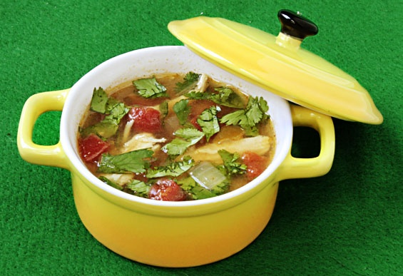 green chili chicken and lime soup | delectable, delicious | Pinterest