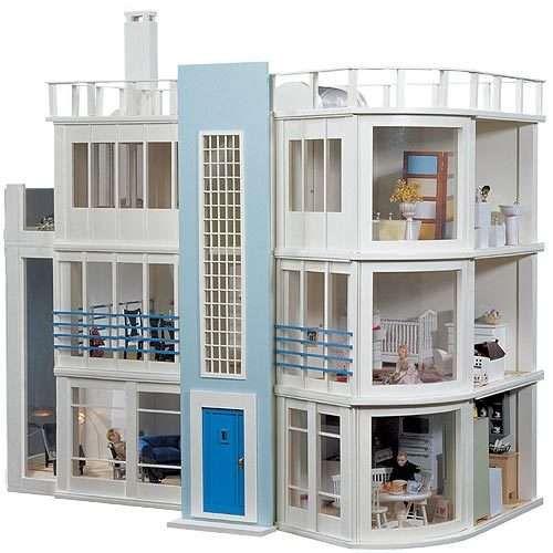 Modern Beach Side Dollhouse Dollhouses And Miniatures