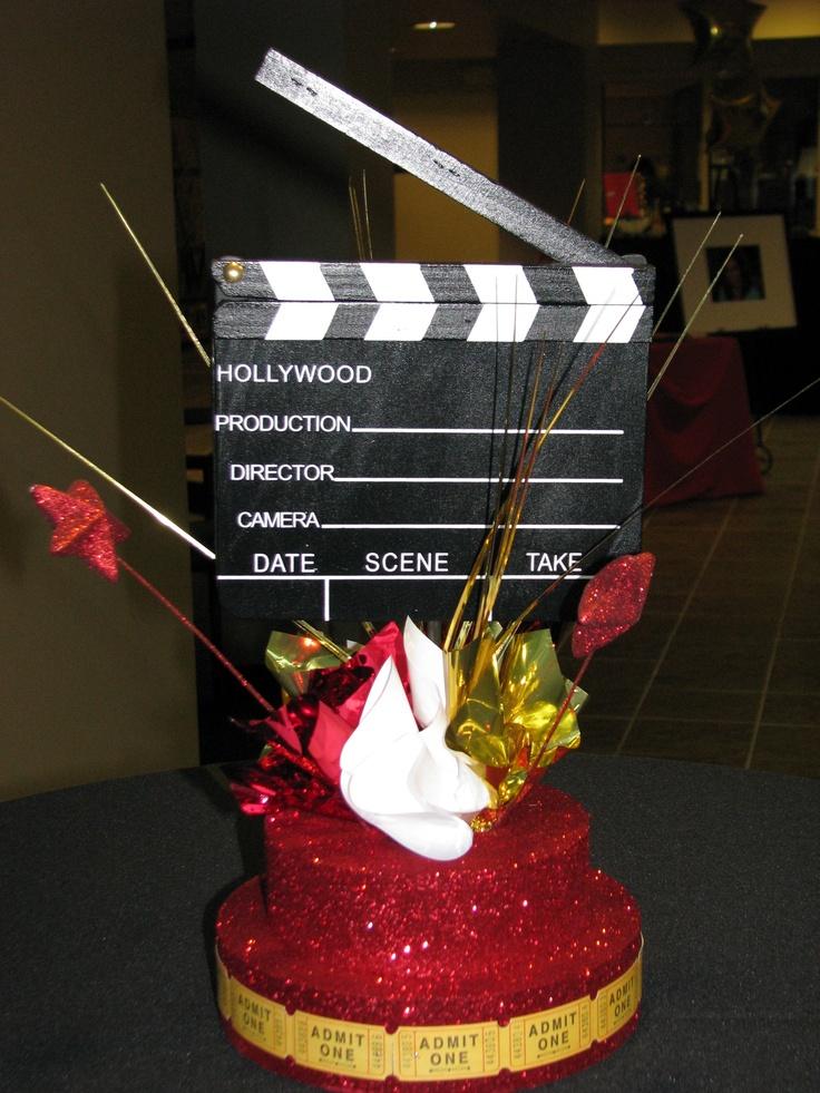 Red Carpet Oscar Centerpiece Hollywood Party Pinterest
