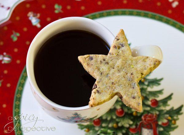 Pistachio-Chocolate Shortbread Cookie Recipe | ASpicyPerspective.com # ...