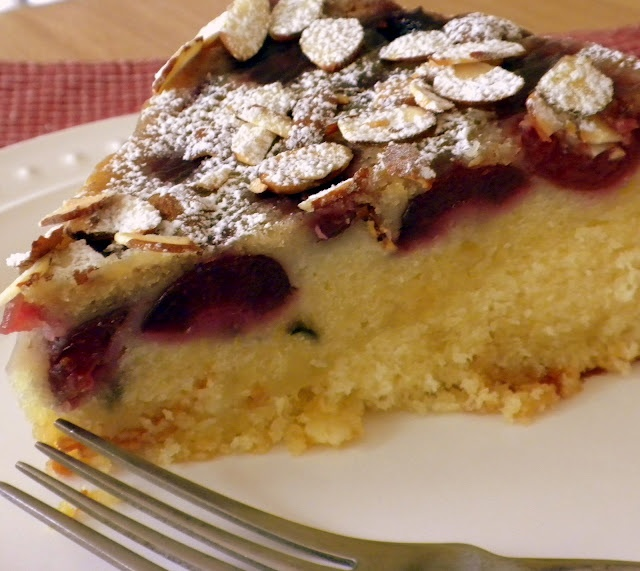 Almond Buttermilk Cake with Cherries | Cup & Cakes | Pinterest
