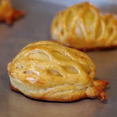 ... : Pears with almond paste in Puff Pastry with Lemon Caramel Sauce