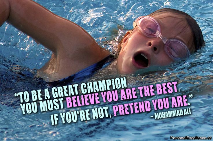 Champion you must believe you are the best if you re not pretend you