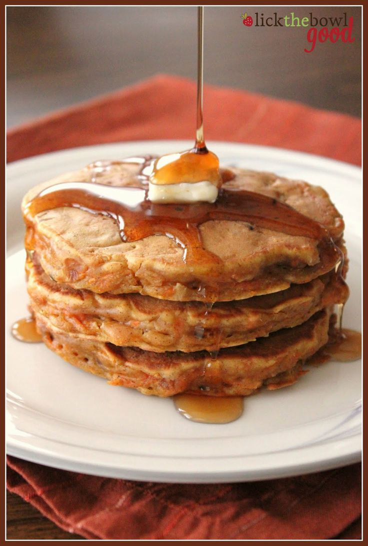 Carrot Cake Pancakes - not from a cake mix!