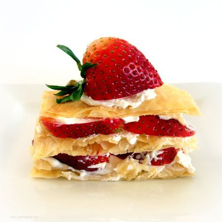 Strawberry Napoleon | Desserts | Pinterest