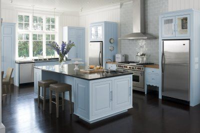 Pale Blue And Brown Kitchen Kitch En Pinterest