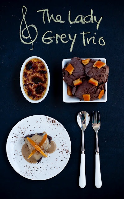 3 Lady Grey Recipes: Creme Brulee, Ice Cream and Chocolate Cake