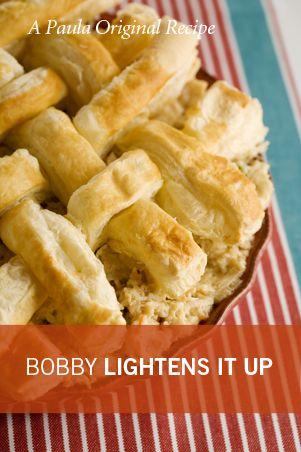 Bobby's Lighter Chicken Pot Pie | Main Meals | Pinterest
