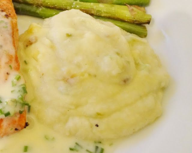 Cauliflower Puree with Sauteed Leeks. This is UNBELIEVABLY GOOD. Use ...