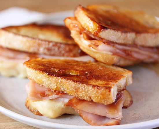 Sweet, sticky grilled ham and cheese! | Sandwiches. | Pinterest