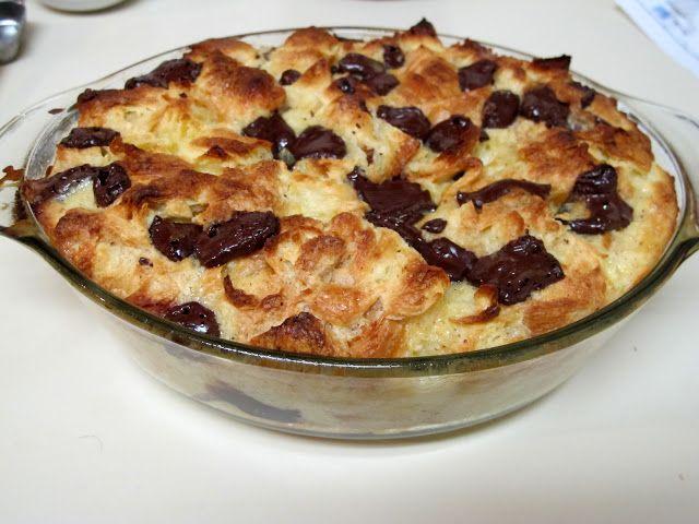 Chocolate Croissant Bread Pudding   Desserts   Pinterest