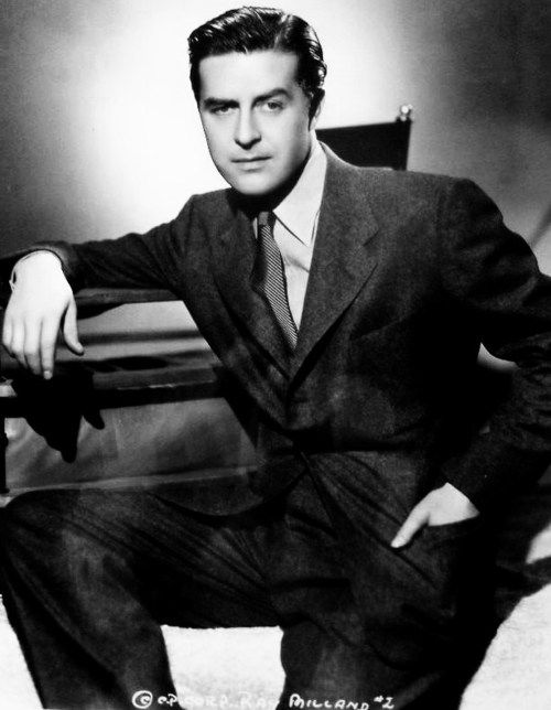 Ray milland 1940 s 1905 1986 welsh actor and director his