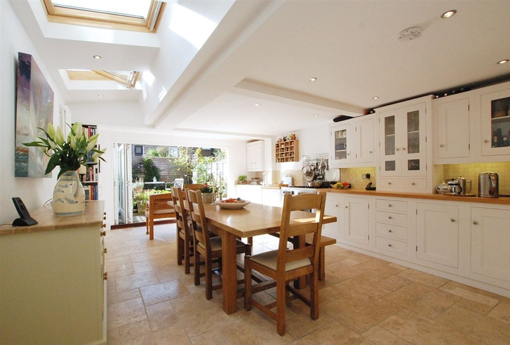 Great example of a side extension in the kitchen.