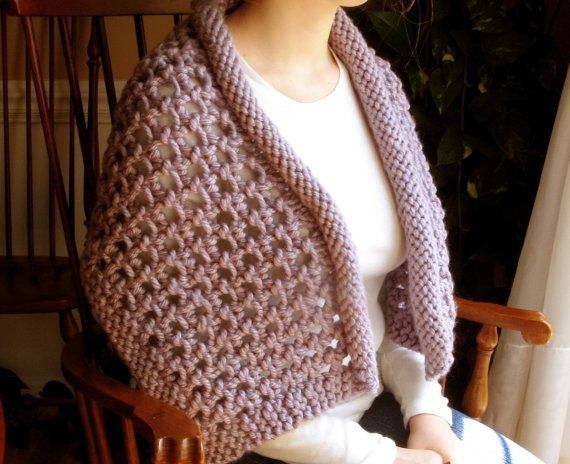 Pattern Hand-Knit Chunky Wrap, Shoulder Wrap, Collar, Scarf, Tutorial?