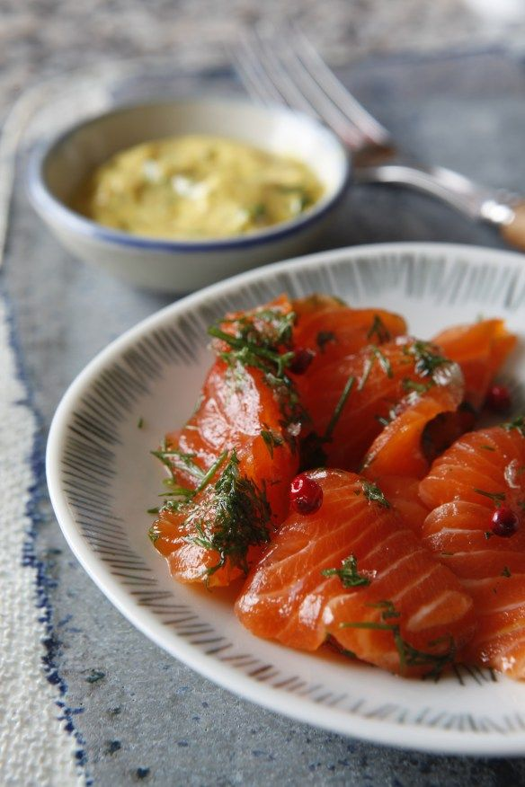 Gravlax With Sweet Mustard Sauce Recipe — Dishmaps