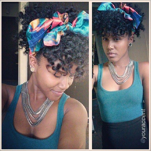 curls hair scarf naturally kinky pinterest