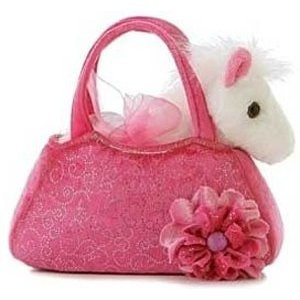 Purse Pal : Fancy Pals Pink Pony Pet in Purse $12.99 at millbrooktack.com