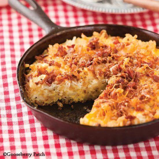 Easy Bacon Frittata 3 T. oil 2 c. frozen shredded hash browns 7 eggs ...
