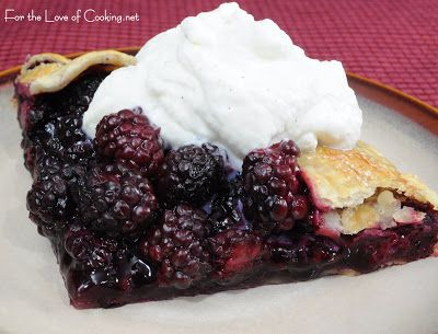 ... of Cooking » Blackberry Galette with Homemade Vanilla Whipped Cream