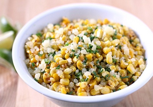 Sauteed Corn with Manchego and Lime...I LOVE manchego...can't wait to ...
