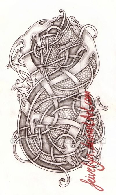 Zombie shark tattoo