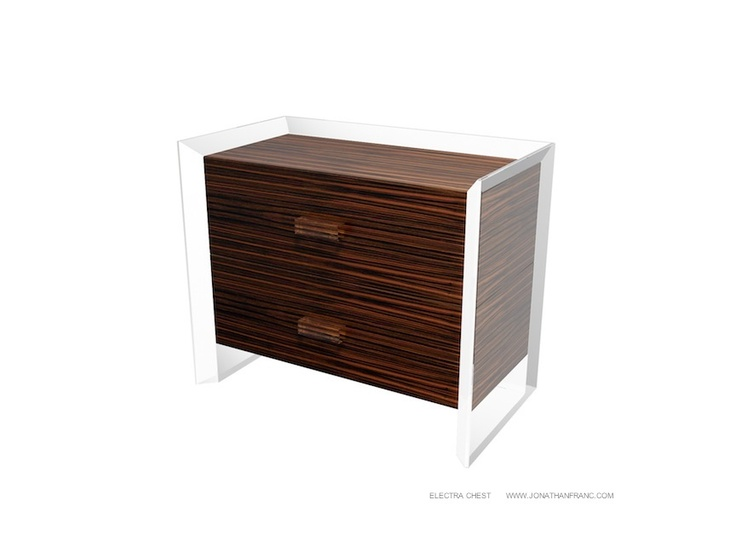 ELECTRA CHEST - Acrylic and Macassar Ebony nightstand by Jonathan ...
