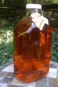 brew ice tea in glass milk bottles