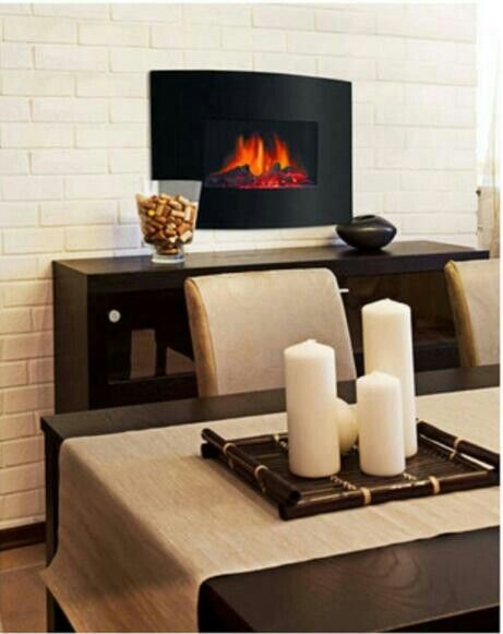 Mounted Electric Fireplace In Formal Dining Room Amazing Spaces Kitchen Casual And Formal