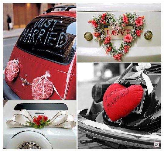 decoration_voiture_mariage_arriere_coeur_coussin  Idée mariage ...