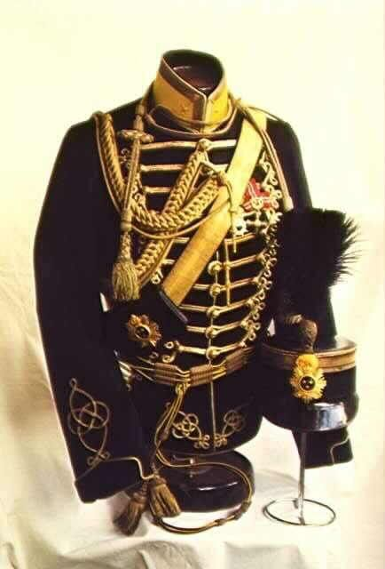 Swedish Hussars, 1880 Black and gold jacket for C-Magnus