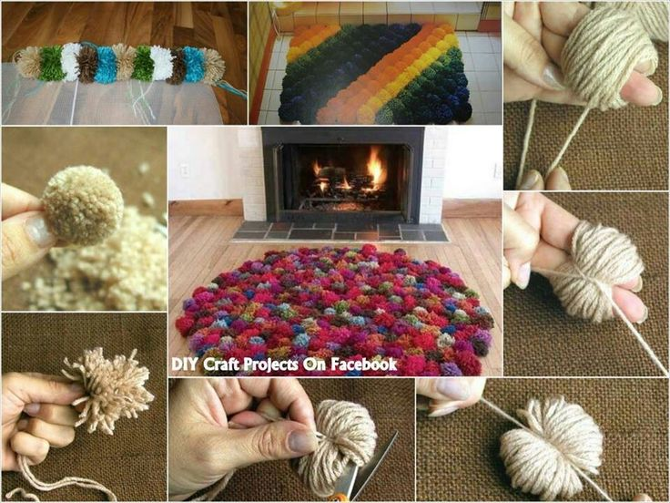 Puff Ball Yarn Rugs Baby Pinterest