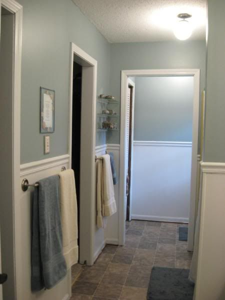 Blue bathroom paint colors cottage bathroom benjamin moore - Benjamin Moore Mount Saint Anne Paint Colors Pinterest