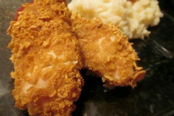 Corn flake oven fried chicken | That looks good | Pinterest