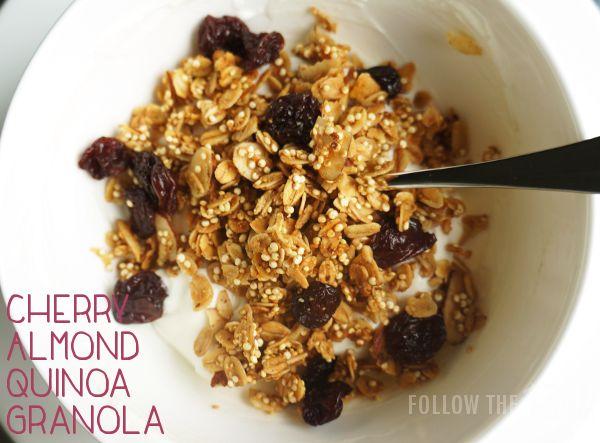 Cherry Almond Quinoa Granola | Granola | Pinterest